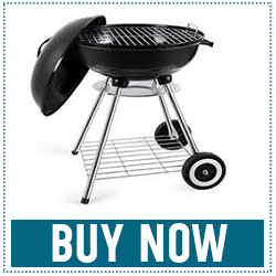 18-inch Portable Steel Charcoal Barbecue BBQ Grill