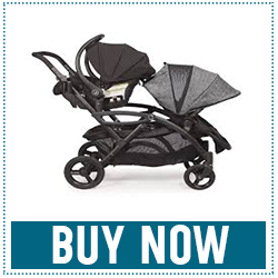 Contours Options Elite Tandem Double Toddler and Baby Stroller